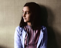 Anne Frank (1941) (dayman1776) Tags: anne frank holocaust colorized colorization amsterdam girl diary ww2 wwii history netherlands reflective sad europe young