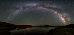 One Hundred Million Stars in the Milky Way (J H Newton Images) Tags: reflections rainbow astro night milkywaypanorama milkywayarch galaxies waterside gunnison landscape skyglow reservoir lake milky heavens space nikond750 nikon nebula celestial milkywayrainbow stars mountains reflection water nightsky darksky astrolandscapephotography milkyway panorama airglow galaxy mosaic samyang bluemesareservoir astrophotography alp arch way