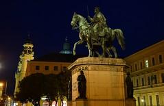 Munich - Equestrian Statue of Ludwig I. (cnmark) Tags: deutschland germany bayern bavaria münchen munich odeonsplatz reiterstandbild equestrian statue king könig ludwigi night nacht nachtaufnahme noche nuit notte noite ©allrightsreserved