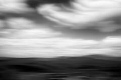 Mountain View no.2 (SopheNic (DavidSenaPhoto)) Tags: inexplore impressionisticphotography intentionalcameramovement monochrome newhampshire clouds xe1 multipleexposure mountains whitemountains fuji bw fujinon35mmf14 icm blackandwhite fujifilm impressionism