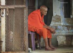 Varanasi 03 (rokobilbo) Tags: varanasi india man thought color waiting ganges