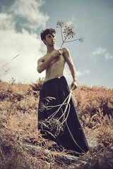 Until The Sun (Pietro Agostini) Tags: knight fight strength boy man guy shirtless mountains sun nature tones loneliness plants warrior alps