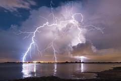 Positive Contact (James Boone) Tags: bay bolt bolts centralflorida florida july lightning lightningbolt lightningstrike lovefl night rain stpete stpetersburg storm storms strike strikes summer tampa tampabay thunder thunderstorm thunderstorms pinellas