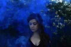 Smoke (lauriegirl97) Tags: smokebomb editorial mysterious mystery enchanted fireworks selfportrait portrait fantasy fog smoke