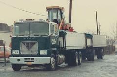 Mack F-model, truck and full trailer, PA (PAcarhauler) Tags: mack coe cabover truck trailer