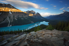 Happy Canada Day - Peyto Lake (Gavin Hardcastle - Fototripper) Tags: peyto lake canada day canadian rockies banff nationla park sunrise morning summer alpenglow gavinhardcastle fototripper