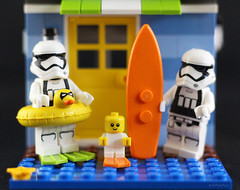 It is holidays time in Lego Land (Belle Pans Maze) Tags: macromondays relaxation holidays toy toys lego starwars stormtrooper bricks afol
