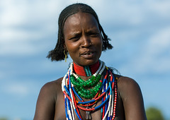 Portrait of an Erbore tribe woman, Omo valley, Murale, Ethiopia (Eric Lafforgue) Tags: adornment adult africa africanculture anthropology arbore beautiful beauty closeup day decoration developingcountry eastafrica erbore ethiopia ethiopia0617384 ethiopian female feminine headshot horizontal hornofafrica jewel jewelry lookingatcamera murale necklaces omovalley onepersononly onewomanonly ornamentation outdoors portrait traditionalclothing tribal tribe tribeswoman waistup weito women et