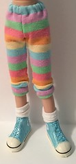 Multi-Colored Pastel Striped Leggings...For Blythe...