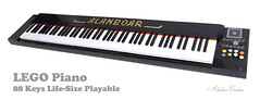 LEGO Piano (Life Size 88 Keys Playable) (alanboar) Tags: piano real playable sound pianist lifesize 88 keys 88keys alanboar