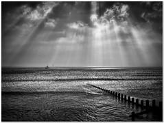 Returning Fishermen (Hugh Stanton) Tags: groins coast rays boat gulls appicoftheweek