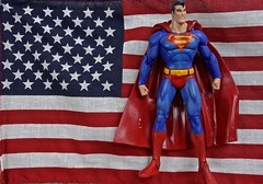 On This 4th of July Superman Reminds All Americans to Continue to Fight the Never Ending Battle for Truth, Justice and the American Way (ricko) Tags: flag usa superman toy actionfigure 4thofjuly werehere 185365 2017