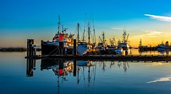 Discover Steveston (Christie : Colour & Light Collection) Tags: steveston river fraserriver boats fishingvillage love scenic romantic tugboat canadianflag canada150 richmond bc canadian romance dock pier fishingboat fishingboats mikkitug