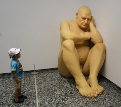 Eye to Eye (Flight Map) Tags: sculpture art boy man naked gallery modern contemporary big mueck figure bald hirshhorn body lifelike realism realistic