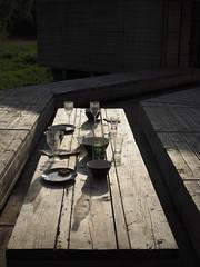 wartenaufdenfluss_08 (Kurrat) Tags: essen industriekultur ruhrgebiet ruhrpott wartenaufdenfluss emscher emscherinsel emscherkunst observatorium tisch mahlzeit