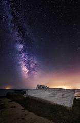 Waiting alone (Toni_pb) Tags: milkyway vialactea deltebre delta deltadelebro nikon nature nikkor1424f28 nocturna nightscape night boat sky d810