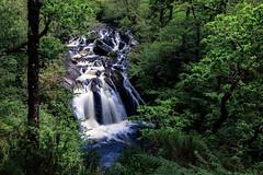 Strone Hill - River Lochy Falls - Scotland (Jan Hoogendoorn) Tags: unitedkingdom scotland stronehill riverlochy forest bos falls waterval