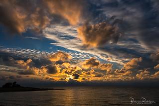 Impressive sky with sunset