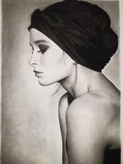 OPERE ALLIEVI (Laboratorio Artistico Mimina) Tags: portrait figura donna charcoal carboncino drawing disegno chiaroscuro modella women pencil