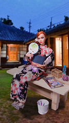 Japanese summer (RockWan FR) Tags: japanese kimono yukata poppyparker moodchangers rad fashionroyalty fr integrity