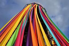 Ribbon Tower. Glastonbury. (Thicks Aside) Tags: glastonbury ribbon colour