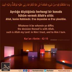 Kerim Kur'an 42-10 (Oku Rabbinin Adiyla) Tags: allah kuran islam ayet ayetler dua dualar sure sureler verse quran torah bible jew muslim church