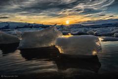 (Olmux82) Tags: ice iceland islanda sunset summer travel nikon d750 clouds lake water jökulsárlón glacier