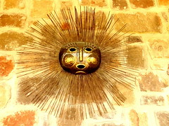 Sun God (austexican718) Tags: copper sculpture sun mexicocity brass