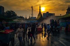 Yangon Sule Pagoda (wilsonchong888) Tags: leica leicaxu yangon burma myanmar sunset sulepagoda streetphotography cityhall celebration thingyan ngc