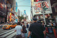 (ニノ Nino) Tags: new york city nyc newyork manhattan downtown light night timessquare times quare taxi empirestateofmind street urban