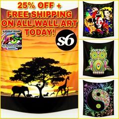 #25%OFF + #Free #Shipping on ALL #Wall #Art Today!🌟 on #bluedarkArt's  @society6 #Shop! 🌟 https://society6.com/bluedarkatlem/tapestries 🌟  #bluedarkArtdesigner #wallsecor #wallart #homedecor #4thehome #forthehome #design #home #africa #o (BluedarkArt) Tags: sales 25 free shop africa shipping wallart home bluedarkartdesigner forthehome art 4sale wall yinyangbamboo wallsecor homedecor bowiemetamorphoses owlpsychedelic onsale design bluedarkart 4thehome