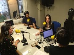 Un momento de la entrevista en el programa magazine de Radio Galicia - Cadena Ser