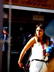 TV présentateur (cuauh_98) Tags: f1 formula1 formule1 race racing racingcar carracing racecar car voiture coche motorsport sportauto sport speed vitesse velocidad fast rapide grandprix f1grandprix granpremiodeespaña spannishgp circuit circuitdecatalunya montmelo bcn barcelona barcelone catalunya catalogne spain españa espagne tv television medias media journaliste journalist periodista micro camera cameras brodcast filming retransmission woman spannish movistar movistartv portrait presentation pitlane pits white blanc blanco blue azul bleu dress whitedress lights lumières luz sol sun sunset soleil eyes regard œil yeux sunday