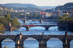2 x T3 - Dopravní podnik hlavního města Prahy  - Most Legií (Rene_Potsdam) Tags: karlův most karlůvmost karlsbrücke praha praag prag prague charlesbridge dopravní podnik hlavního města prahy