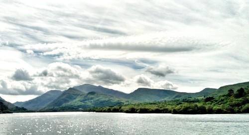 Clouds over Snowdonia & padarn lake.