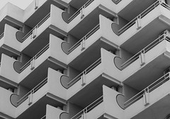Edificio x (Andy WXx2009) Tags: urban apartment building structure streetphotography artistic monochrome spain balcony blackandwhite abstract modern benidorm espana architecture europe skyline cityscape symmetry concrete holiday resort