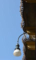 the lamp and balconies (Hayashina) Tags: torino italy turin lamp balcony