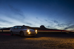Porsche 924 at Haytor (clementsriley) Tags: sunset porsche 924 car vintage 80s dartmoor lights long evening canon 1740mm 1740 17 550 550d