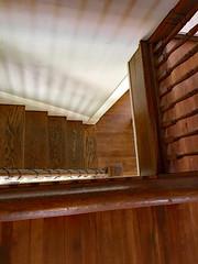 It's An Escher World (BKHagar *Kim*) Tags: bkhagar stairs stairwell banister steps wood wooden tread shadow shadows lines escher vintage antique home house athens al alabama