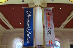 Entertainment, CinemaCon, Pole Banner