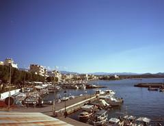Nea Chora (Misterdeiv) Tags: epsonv550 fujiga645w film fujivelvia50 mediumformat scans harbour chania crete greece