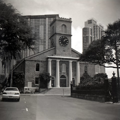 Imperial Savoy view of Kawaiaha'o Church (Miroku Bosatsu) Tags: imperial savoy 100 arista bnw 120 film old metal 620 reels processed for 17 min slimy one month caffenolc view kawaiahao church hawaii honolulu homebrew homeprocessed 808 luckylivehawaii luckywelivehawaii filmisnotdead filmphotography filmcommunity filmcamera filmpool art analog analogphotography aloha analogue filmstagram filmfeed blackandwhite black bw shootfilm shootfilmnotmegapixels shootfilmstaybroke