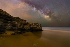 CG-18/6 (J. Cuenca) Tags: playa estrellas via lactea canon cartagena calblanque murcia rocas noche