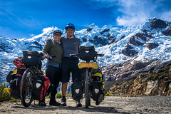 Andrew and Amanda enjoying the glory of making it to the top of Punta Olimpica pass.