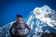 Andrew taking in some glacier views.