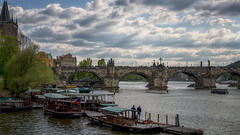 The Charles Bridge (Karlův most) (emptyseas) Tags: charles bridge karlův most vltava river bow arches towers statues baroque style emptyseas nikon d800 prague czech republic