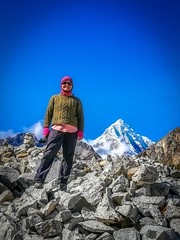 Amanda, loving life at 4700m.