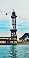 Barcelona i el teleferic ( Explore 25/06/2017) (bertanuri bcn) Tags: barcelona bcn catalunya catalonia catalogne mar mediterraneo mediterrani sea teleferic teleferico harbour puerto port lanscape paysage