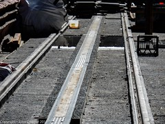 CBD & South East Light Rail - Installation of APS between Park and Market Strrets  - 24 June 2017 - 1 (john cowper) Tags: cselr sydneylightrail aps ingoundpowersupply georgestreet parkstreet queenvictoriabuilding qvb tracks acconia alstom transportfornsw sydney newsouthwales