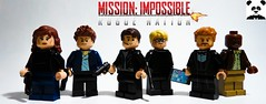 Mission Impossible 5: Rogue Nation (TheRandom_Panda) Tags: lego figs fig figures figure minifigs minifig minifigures minifigure purist purists character characters film films movie movies television tv tom cruise ethan hunt simon pegg jeremy renner rebecca ferguson mission impossible 5 rogue nation ving rhames